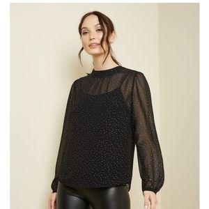 RW sparkly chiffon blouse nwot size small